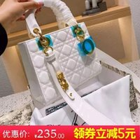 Patent leather Princess women's 2021 new bride's red small fragrance lattice chain One Shoulder Messenger Handbag[Finished on