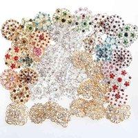 50 pcs Moda de Alta Qualidade Rhinestone Cristal Broche Broches Pins Mulheres românticas Casamento Principal Broche para Buquê De Partido