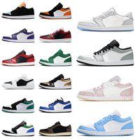 Nike Air Jordan Retro 1 Jordans Jumpman Aj 1s Low Paint Drip Panda UNC Court Purple Bred Gym Red Island أحذية كرة السلة للرجال والنساية رياضية رياضية للرجال والنساء المدربين  أحذية