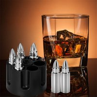 Metal quick-frozen ice tartar Whiskey Stones Bullets Stainless Steel Ice Cubes Ice Trays