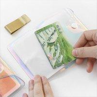 Card Holders LKEEP Fashion Laser Transparent 20 36 Bits Rfid ID Bank Case Business Holder Women Men Credit Passport Bag Wallet Purse