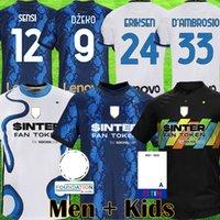 Inter Milan 2020 2021 ERIKSEN Lukaku Lautaro İnter ev uzakta Milan futbol formaları Barella 20 21 futbol üst gömlek Erkekler Çocuk Setleri üniforma setleri
