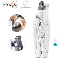 Benepaw Professional Light Dog Clipper File USB Laden Sicherer Ergonomischer Griff Haustier Nagelschneider Trapper Pflegeschneider