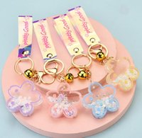 Acrylic Keychain Fashion Lovely Flowers Key Ring Lady's Handbag Mobile Phone Pendant Accessories Creative Couples Gift