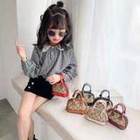 Lettere adorabili stampate mini sacchetto di conchiglia per bambini moda cool catena borse per neonati con croce patchwork patchwork borse a borse accessori G61F5Y2