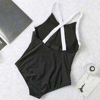 Tek parça Suits Sandy Plaj Sörf Bikini Mayo Kadınlar Için Marka Mayo Vücut Şekillendirici Beachwear Yaz Tek Parça Seksi Bayan B Mektup Baskı Mayo Bırak SCCC