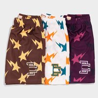 EE Basic Shorts New York City Skyline Marca de Fitness Sweatpants Curto Men's Summer Gym Workout Malha Respirável Casual Basquetebol Calças