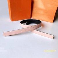 Cinturón de diseño Starlight Palm Spring Circle 23mm Cinturones reversibles Moda Casual Cuero genuino Pink Golden O Jewel Circles Hebillas Clasísticas Mujeres Moda elegante