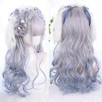 Синтетические парики Meihan парик Длинные волнистые вьющиеся вьющиеся розовые лолита Хараджуку Японские волосы милый косплей Хэллоуин натуральный