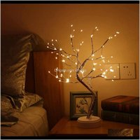 Gadget 108 Leds Artificial Light 20 Inch Bonsai Tree Desk Table Led Lamp Lights With 16 Branches Decoration For Bedroom Cbz5I Geyrj