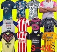 Größe S-4XL LIGA MX 21 22 Club America Soccer Jerseys Leon Dritter 2021 2022 Mexiko Léon Tijuana Tigres Unam Chivas Guadalajara Cruz Azul Football Hemden
