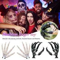 Halloween Articulated Fingers Scarry Fake Fingers Halloween Skeleton Hands Realistic Halloween Party Decor Prop