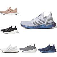 Chaussures de course en plein air pour hommes et femmes Ultraboost 20 Triple Noir Solaire Jaune Jaune-Gris Sneakers Formateurs de tennis pour hommes et femmes Jogging