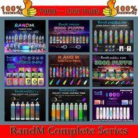 Original Randm Dazzle Switch Pro B Box Tornado Ghost Elektronische Zigaretten Einweg-Vape King 1000 2000 2600 3200 4000 5000 6000 7000Puffs Authentic Wholesale