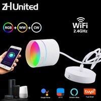 펜던트 램프 9W 현대 LED 통 현미서 2.4Ghz 샹들리 와이파이 거실, 침실 주방 RGB 따뜻한 멋진 빛 작업 Tuya Google Hom