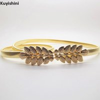 Belts Brand Designer Waistband Olive Leaves Wedding Women Pure Elastic Metal Chain Gold Silver Waist Bride