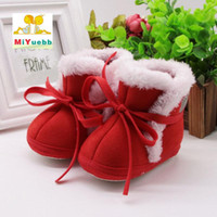First Walkers Born Baby Boy Girl Cute Thicker Cartoon Straps Toddler Slippers Cotton Shoes Keep Warm Wool Bed Learn Walk