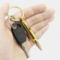 new Bullet Bottle Openers Zinc Alloy Key Ring Pendant Bullet Model Beer Bottle Opener Keychains Bar Gadget Metal Kitchen Tools RRD6884