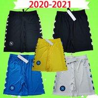 2020 2021 Nápoles Pantalones cortos de fútbol Napoli Pantalones de fútbol Negro Amarillo Azul Blanco 20 21 Meret Home Away Tercer Milik Koulibaly Insigne Mertens Top Calidad