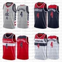 Männer S-6XL Basketball Jersey WashingtonZauberer0 RussellWestbrook 3 Beal Grau Rot Weiß Dunkelblaue Stadt Sleeveless Trikots