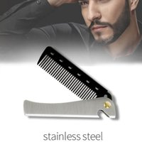 Hair Brushes Portable Folding Pocket Combs For Men Oil Head Beard Styling Product Man Women