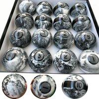 Las últimas 57.25mm Marple + Resina Billiard Bolas de piscina 16pcs Conjunto completo de accesorios de alta calidad China1