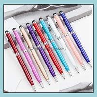 Office School Business & Industrialtouch Screen Ballpoint Pen Metal Durable 1.0Mm Ballpoin T Pens Fashion Writing Supplies Advertising Gift