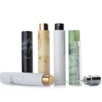 Mini Portable Refillable Perfume Spray Bottle Marbling Aluminum Makeup Water Atomizer Empty Container Travel Bottles Tool