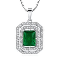 Pendant Necklaces Luxurious Fashionable Square Necklace For Women Elegant Wedding Engagement Crystal Zircon Jewelry Party Gift
