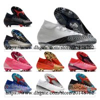 حقيبة الهدايا رجالي أحذية كرة القدم عالية الكاحل mbappe cr7 mercurial superfly 7 السابع النخبة fg المرابط في نيمار acc ronaldo cr100 أحذية كرة القدم