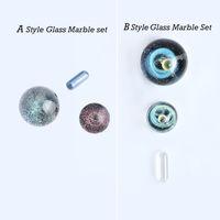 Accessoires de fumer 2styles Ensembles en marbre en verre, y compris les pilules de quartz saphir 20mm 22mm14mmmmod insert de perle vitreuse pour Terp Slurper Banger Nail