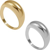 2021 Punk Chunky Rings for Women Men Trendy Geometric Circle Thick Stackable Gold Rings Minimalist Party Wedding Jewelry