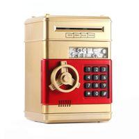 Электронная копилка банка банкомата пароль денег коробка денежных монет Сохранение банкомата Bank Safe Box Auto Croll Paper Banknote подарок для детей