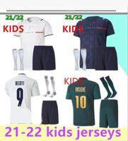 Kinder 2021 2022 Italien Fussball Jerseys Uniform 21 22 Italia Bonucci Insignente Jorginho Italienische Jungen Fußball-Kits