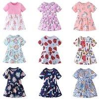 Sommer Nette Einhorn Kleid Mädchen Cartoon Tiere Muster Mode Lässig Mädchen Kleid Kinder Kinder Geburtstag Party Prinzessin Kleider T200624