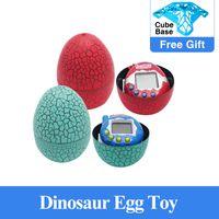 Tumbler LED 장난감 Tamagochi 공룡 계란 가상 전자 애완 동물 기계 디지털 전자 전자 애완 동물 레트로 사이버 장난감 핸드 헬드 게임
