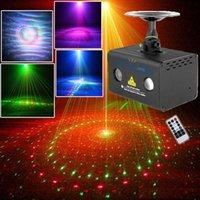 효과 DJ 숍 RGB LED 파티 디스코 라이트 레드 그린 홈 레이저 시스템 프로젝터 20 패턴 사운드 원격으로 활성화