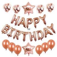 Birthday Decorations for Girls Baby Shower Decor 12 pollici Lettera Palloncini di alta qualità Star Foil Alfabeto Palloncino Accessori per feste HWA7362