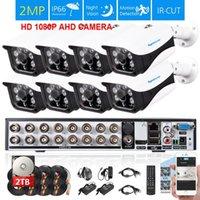 كامل 16ch AHD 1080P نظام DVR مع 8 قطع 2MP CVI الأمن في الهواء الطلق CCTV كيت 4 * مجموعة أنظمة كاميرا مراقبة الفيديو