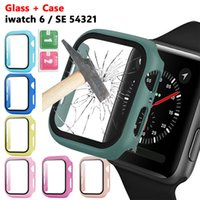 Matte Hard Watch Case with Screen Protector for Apple iwatch Series 6 5 4 3 2 1 Full Coverage Case 38 40 42 44mm smartwatch