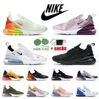 Nike Air Max 270 NIKE 270 Scarpe da corsa da uomo da donna Triple White Black Barely Rose Gradient Spirit Teal Sports Trainers Sneakers da jogging medie olive