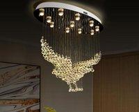 Kartal şekli kristal avize ışıkları fikstür oturma odası için modern lamba kapalı dekorasyon glete aydınlatma