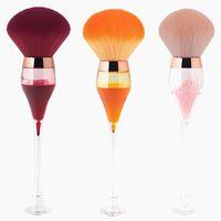 Makeup Brushes Single Large Fluffy Powder Blush Compensator Creative Wine Glass Shape Crafts Level Cosmetic Beauty Tools