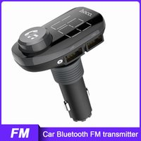 & MP4 Players HOCO FM Transmitter Car Quick Charging 3.0 Dual USB Charger MP3 Player Bluetooth 4.2 Handsfree Wireless Headphones