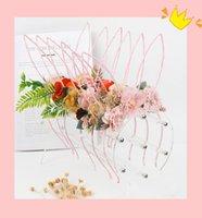 6 스타일 ins 예쁜 여자 머리 액세서리 모조 꽃 토끼 귀 디자인 액세서리 키즈 쥬얼리 생일 파티 선물 헤어 스틱
