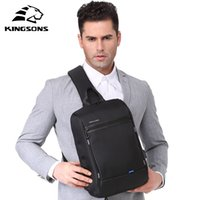 Kingsons 13 Chest Bag Black Single Shoulder Bags With USB Charging Waterproof Nylon Crossbody Bags Messenger Bags Hot-selling