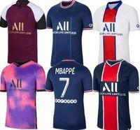 2021 22 باريس لكرة القدم جيرسي Mbappe Verratti 20 21 Marquinhos Kimpembe di Maria Kean Football Tops Men Shirt
