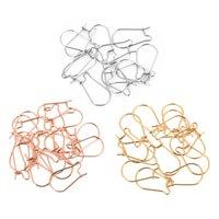 20pcs / lot 316L Acier inoxydable Rose Gold Silver Tone Silver Hypoallergénique Crochets d'oreille pour oreillettes pour bricolage Boucle d'oreille Constatations de bijoux