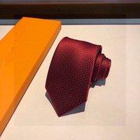 2021 남자 넥타이 디자인 남성 넥타이 패션 목 넥타이 편지 인쇄 3 색 고황 디자이너 비즈니스 남자 석출 목복 상자 21091002W