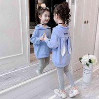 Fashion Girls Clothes Set Teen Girls Tracksuit Spring Autumn Long Sleeve 2pcs Children Suits Little Girl Sets 4 6 8 10 12 years 201126